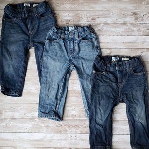 3 pairs of Baby Boy Oshkosh Jeans (bundle)